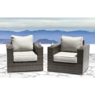 Simmerman Patio Chair with Cushions (Set of 2)
