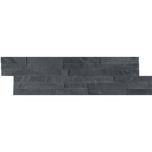12 X L And Stick Natural Stone Subway Tile In Black