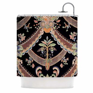 'Vintage Paisley Pattern' Art Deco Single Shower Curtain