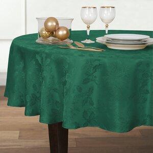 Christmas Carol Damask Round Tablecloth