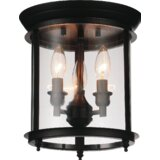 Tom 3 - Light 10'' Lantern Cylinder Flush Mount