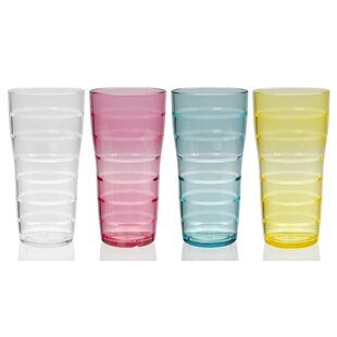 Veronica Lemonade 26 oz. Acrylic Every Day Glasses (Set of 8)