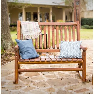 Akins Porch Double Rocking Bench by Millwood Pines