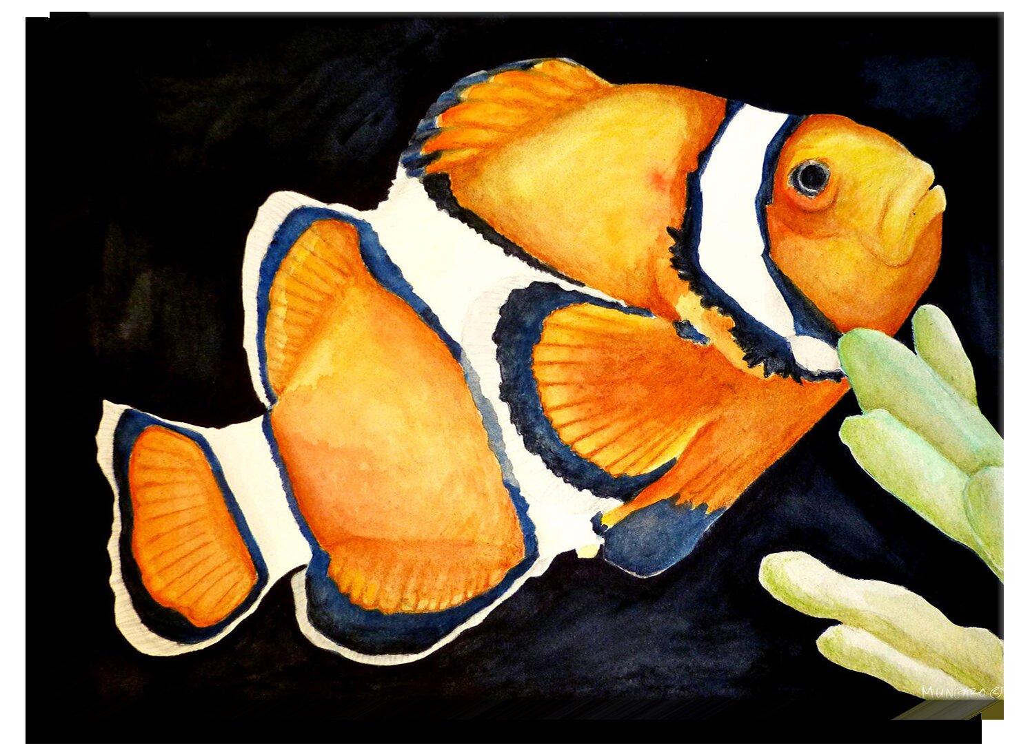 Bayou Breeze Deep Sea Life Clown Fish Print On Fabric Wayfair