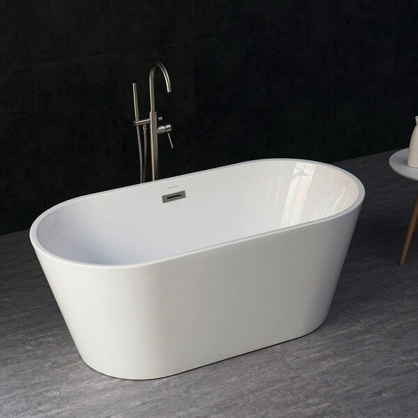 Woodbridge 59 X 30 Freestanding Soaking Bathtub Wayfair