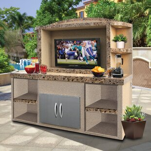 Cristina Outdoor Entertainment Center Serving Bar by Freeport Park