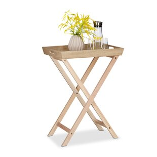 Wooden Tablet Serving Folding Tray Table