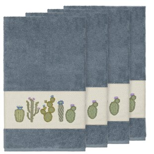 Hoeft Embellished Turkish Cotton Bath Towel (Set of 4)
