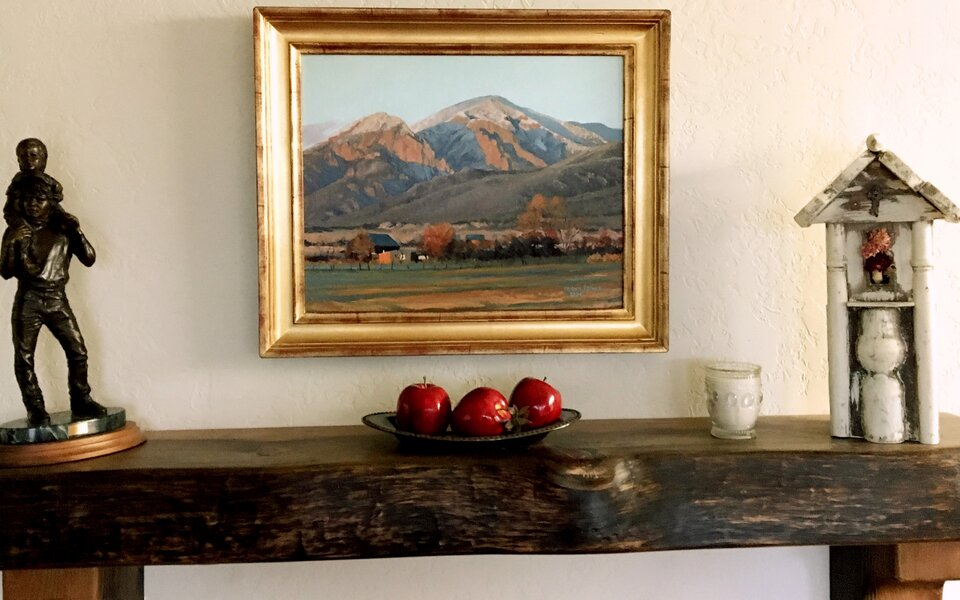 Nancy Reinke A Joyful Cottage fireplace mantel