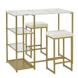 Kirkpatrick 3 - Piece Counter Height Dining Set by Everly Quinn