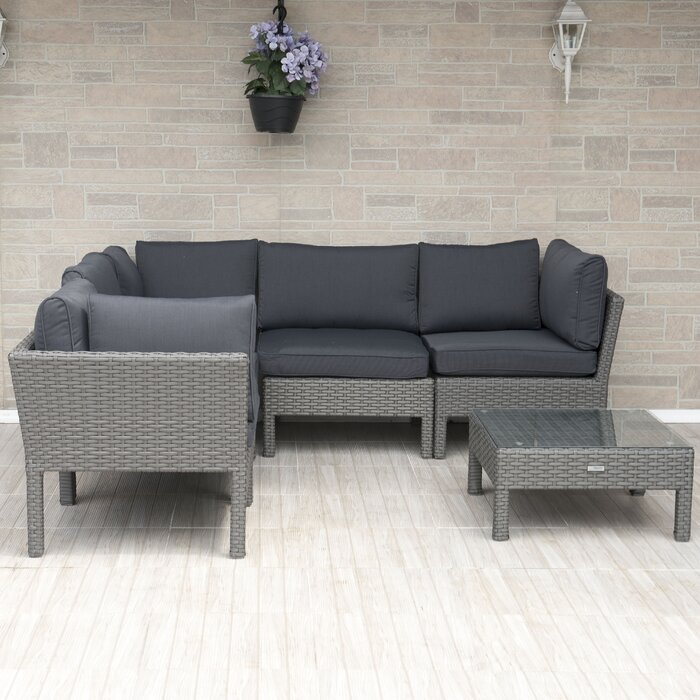 Hannah 6 Piece Sectional Seating Group with Cushions