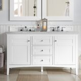 Lineberry 60 Double Bathroom Vanity Set by Rosecliff Heights