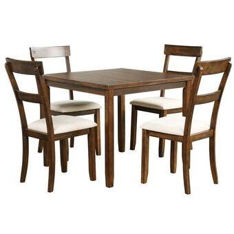 Gracie Oaks Rennes 5 Piece Dining Set Wayfair