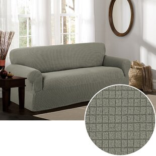 Box Cushion Sofa Slipcover by Three Posts Looking for
