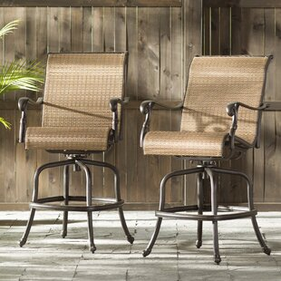 Germano Sling 28'' Patio Bar Stool (Set of 2)