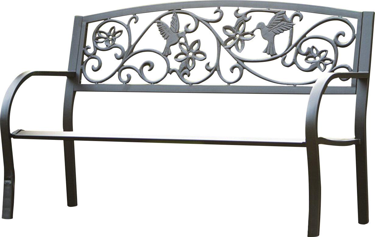 metal outdoor belleze park bench reviews wayfair pdx