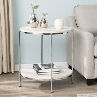 Best Deals Stamper Faux Stone End Table By Mercer41