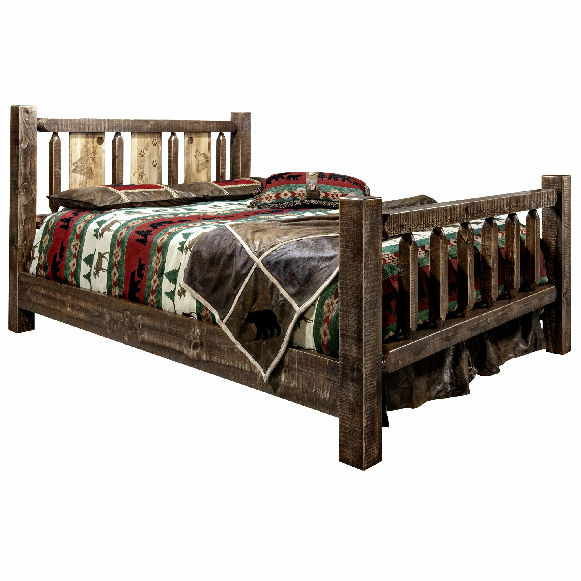 Loon Peak Abella Solid Wood Standard Bed Wayfair