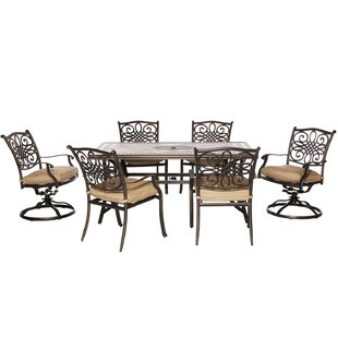 Carlee 7 Piece Dining Set with Cushion