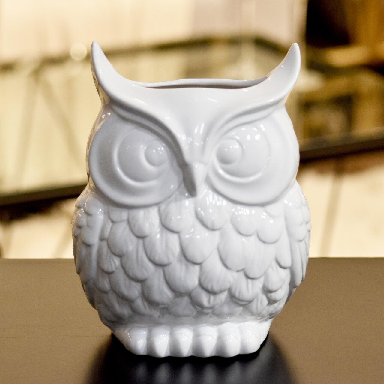 Urban Trends Ceramic Owl Vase & Reviews | Wayfair