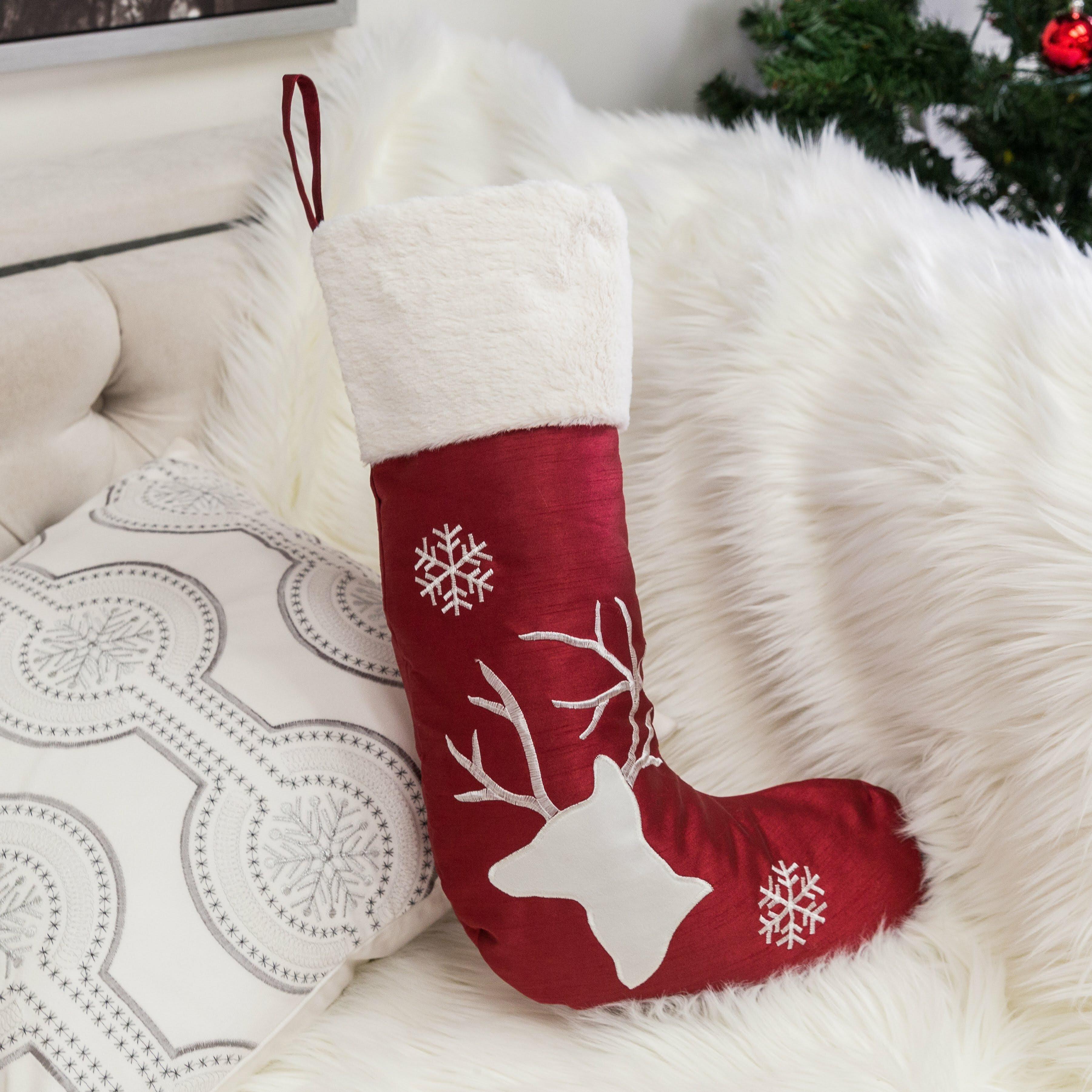 Christmas Red Snowflake Fluffy Soft /& Warm Socks Bed Sock Xmas Fun Gift