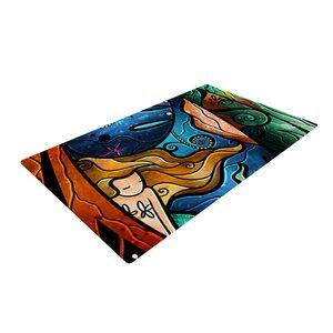 Mandie Manzano Fathoms Below Mermaid Blue/Yellow Area Rug