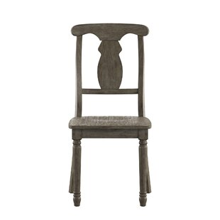 Butte Napoleon Back Solid Wood Dining Chair (Set of 2) Alcott Hill