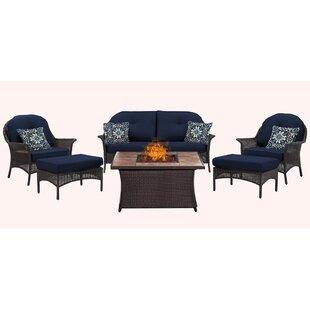 Kinnison 6 Piece Sofa Set with Cushions By Bayou Breeze