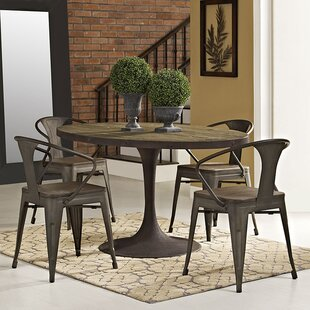 Omarion Industrial Wood Top Dining Table