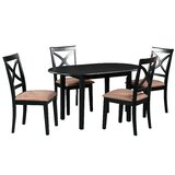 Forsyth 5 Piece Extendable Solid Wood Dining Set by Alcott Hill®