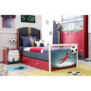 Soccer Extra Long Twin Platform Bed with Trundle