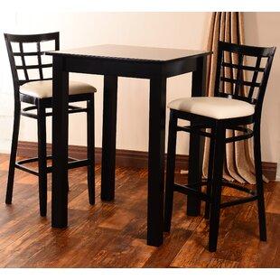 Laszakovits 3 Piece Pub Table Set by August Grove
