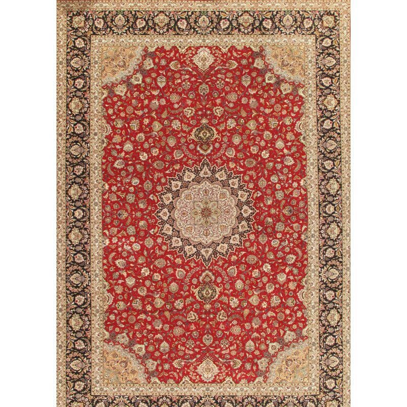 Pasargad One Of A Kind Tabriz Hand Knotted Rose 11 4 X 16 6 Area Rug Wayfair