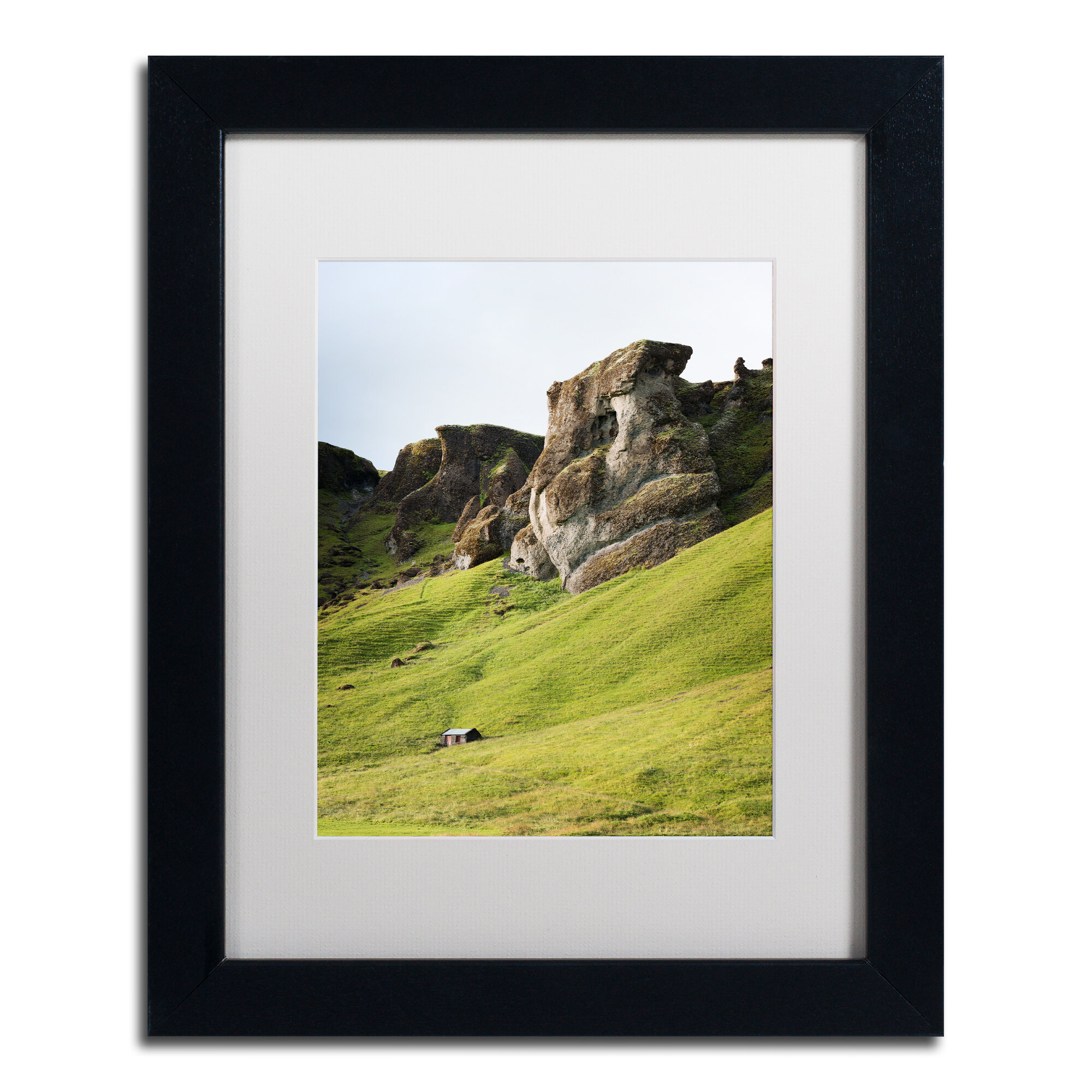 Trademark Art Shades Of Green Framed Photographic Print On Canvas Wayfair