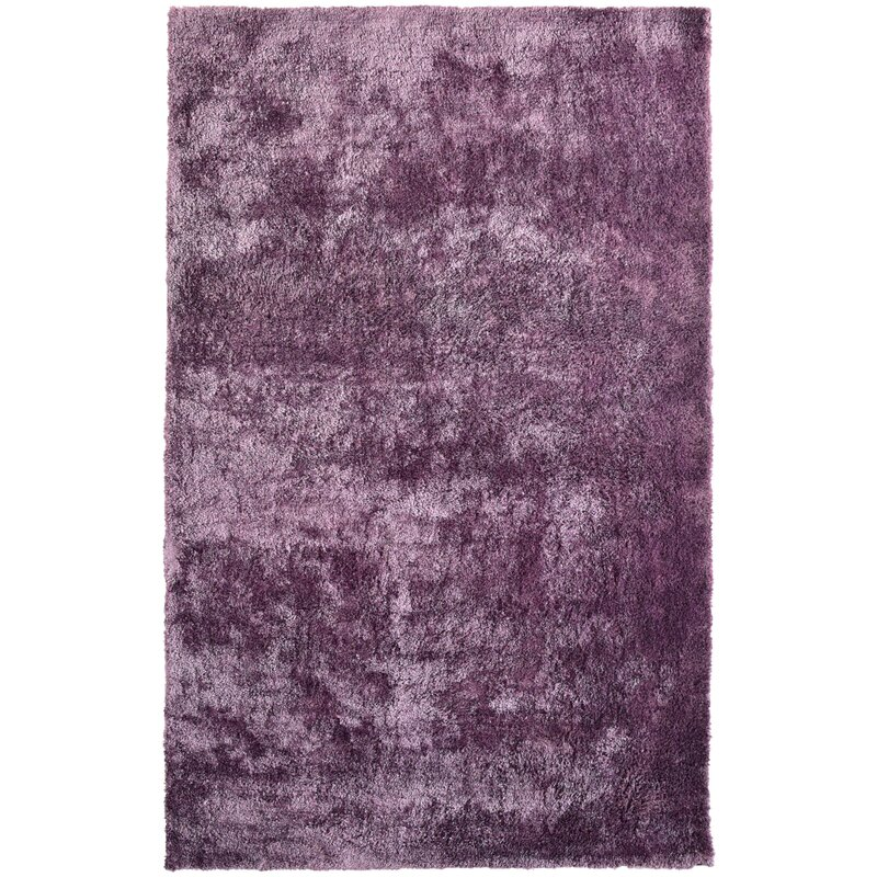 Rug Studio Fur Purple Area Rug