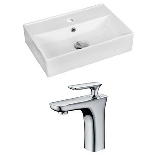 Comparison Ceramic 20 Bathroom Sink with Faucet and Overflow By Royal Purple Bath Kitchen