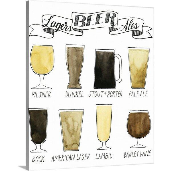 Ebern Designs Giclee Beer Info Graphic Graphic Art Print Wayfair
