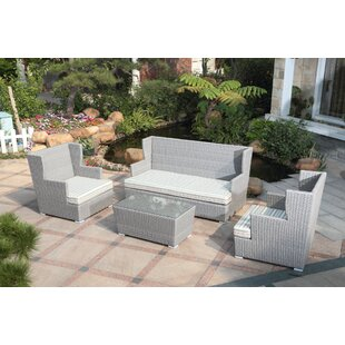 Sattler 4 Piece Sofa Set with Cushions