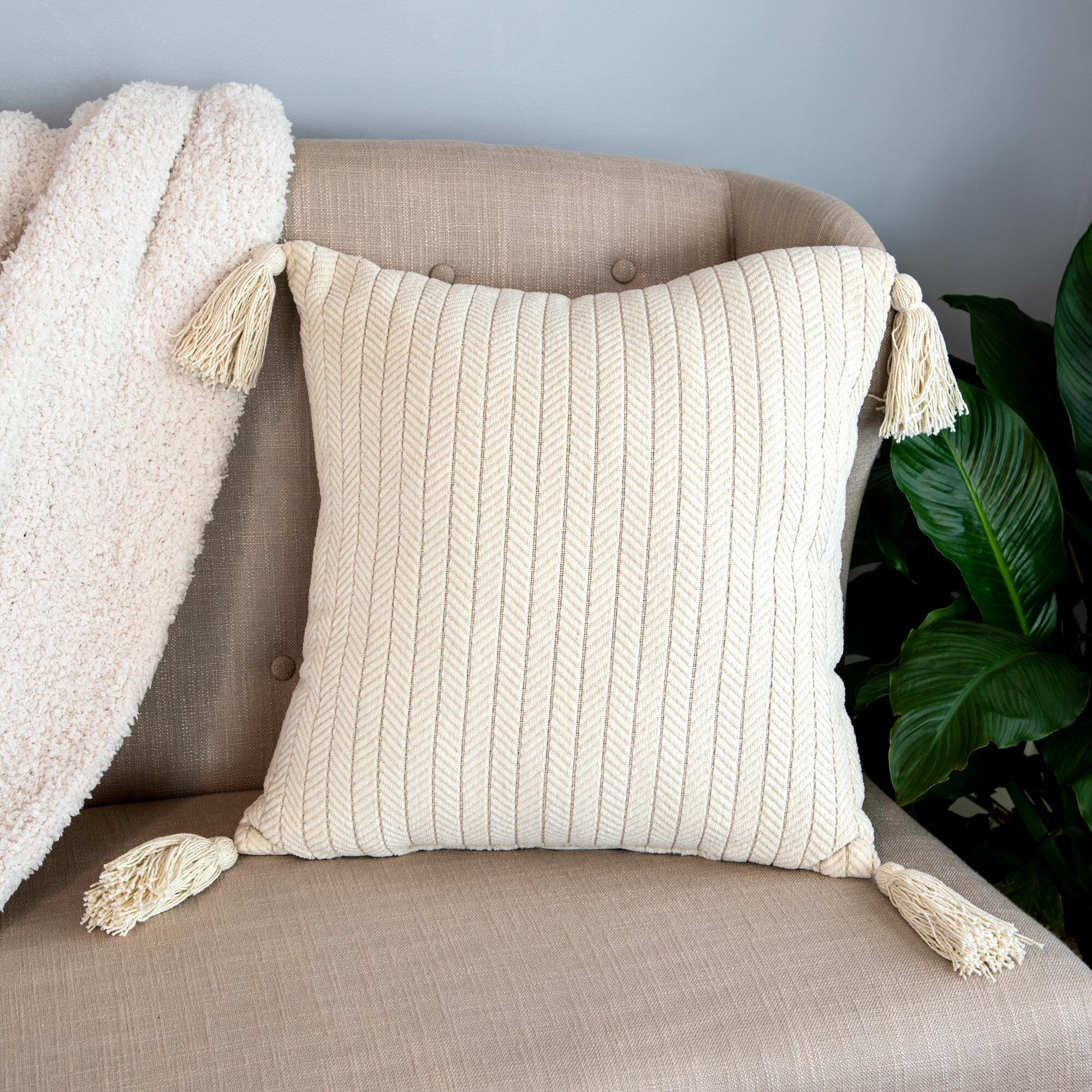 Dakota Fields Decoteau Square Cotton Pillow Cover And Insert Reviews Wayfair