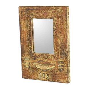Bloomsbury Market Lakisha Worlasi Faith Wood Wall Mirror