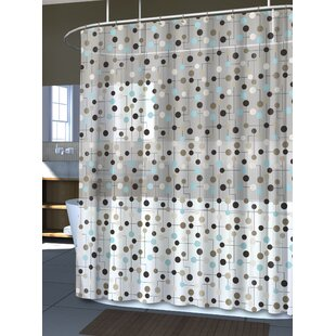 Ellie PEVA 4G Jot Vinyl Single Shower Curtain Liner by Ebern Designs