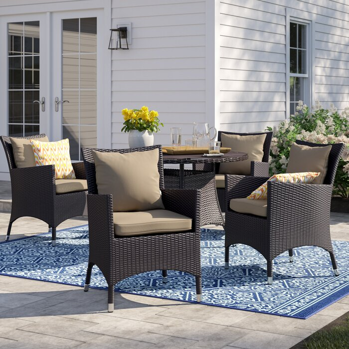 Bwood Deep Seating Patio Chair With Cushions