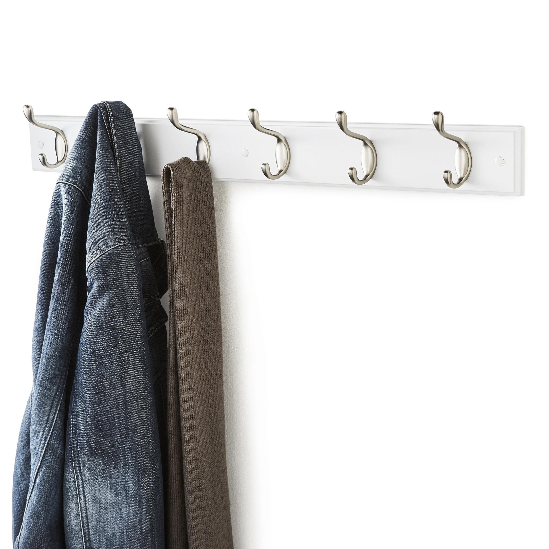 Sundown Wall Mounted Coat Rack With 6 Hooks