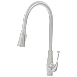 Novatto Single Handle Pull Down Kitchen Faucet with Adjustable Spray