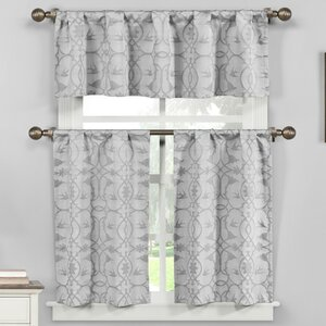 Westervelt 3 Piece Kitchen Curtain Set