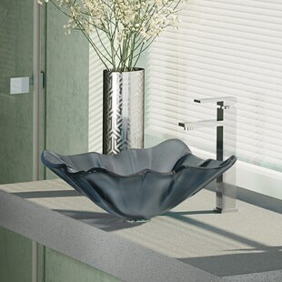 Glass Specialty Vessel Bathroom Sink with Faucet By René Elkay