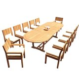 Shawnee 13 Piece Teak Dining Set