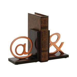 Aluminum Wood Book Ends (Set of 2)