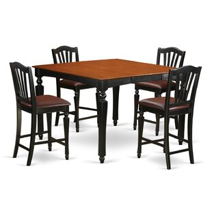 Ashworth 5 Piece Counter Height Extendable Dining Set DarHome Co