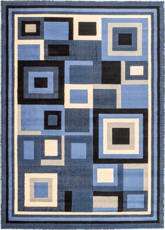 Royal Contemporary Blue Area Rug